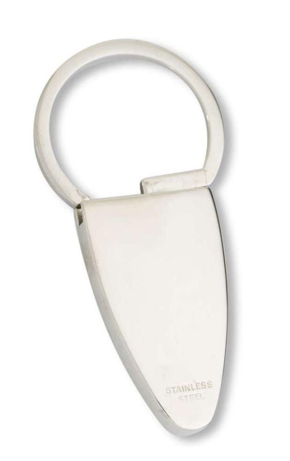 Oceľový prívesok na kľúče - doštička