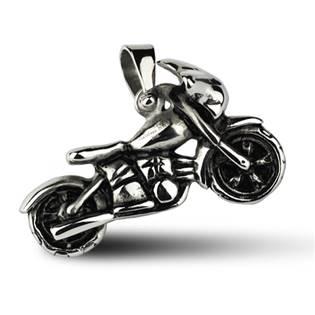 Ocelový přívěšek - motorka