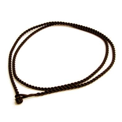 Hodvábna krútená šnúrka na krk hnedá, hr. 2 mm