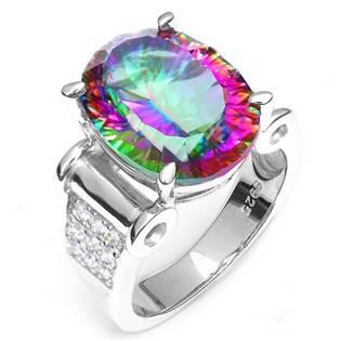 Strieborný prsteň Mystic Topaz