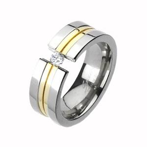 Dámsky prsteň titán, šírka 6 mm, veľ. 55