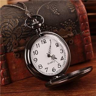 Vreckové hodinky otváracie - cibuľa čierne