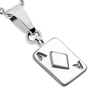 Oceľový prívesok - hracia karta, kárová