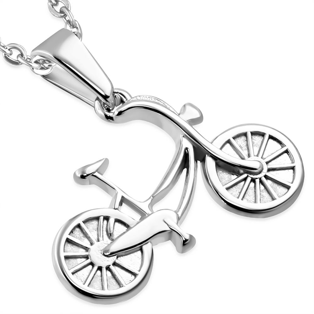 Oceľový prívesok - bicykel