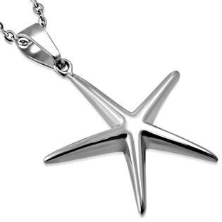Ocelový přívěšek - mořská hvězda