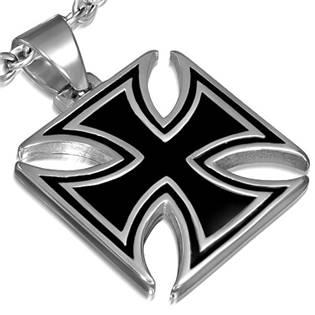 Oceľový prívesok - Maltézsky kríž