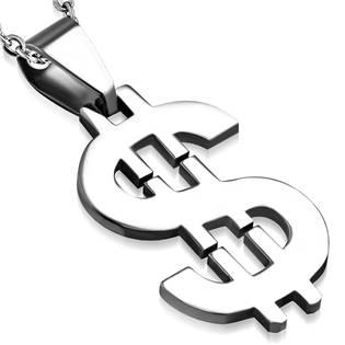 Oceľový prívesok - dolár