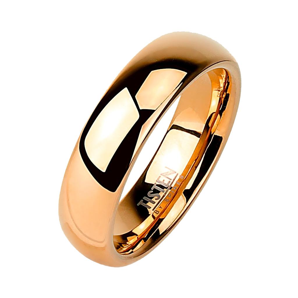 Tistenový prsteň pozlátený, šírka 4 mm