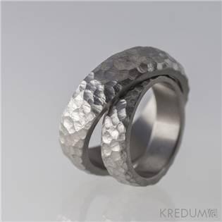 Levně KREDUM® Hynek Kalista KS1101 Dámský titanový prsten Klasik Marro - velikost 58 - KS1101-58