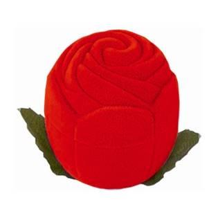 Dárková krabička semiš - růže červená