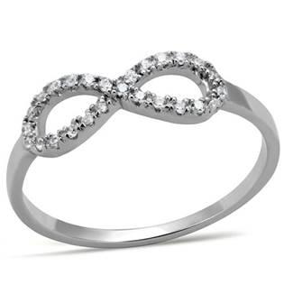 Strieborný prsteň - ležatá osmička - nekonečno