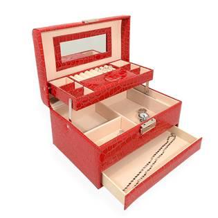Šperkovnica - červená koženka