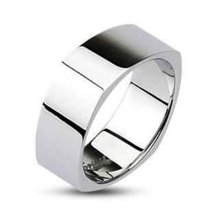 Hranatý oceľový prsteň lesklý