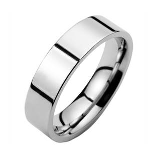 Ocelový prsten lesklý, šíře 6 mm