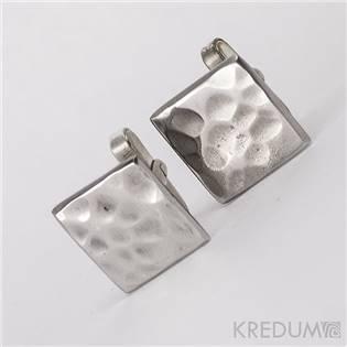 Ručné kované manžetové gombíky Quatro dent
