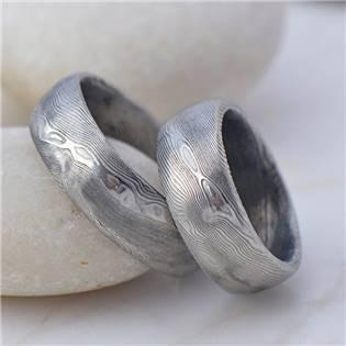 Ručné kovaný prsteň Damasteel Prima