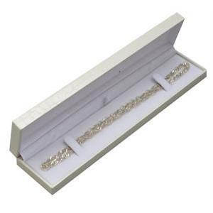 Biela koženková krabička na náramok