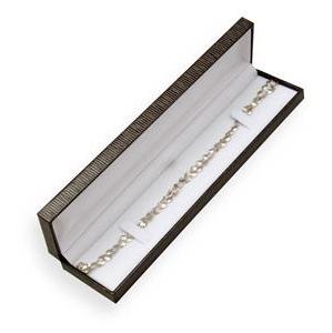 Hnedá koženková krabička na náramok