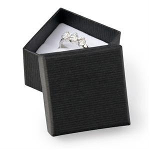 Darčeková krabička na prsteň - čierna