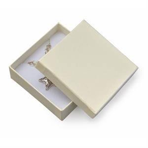 Dárková krabička na soupravu šperků - krémová