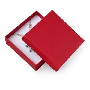 KR0073-RD Dárková krabička na soupravu šperků - červená
