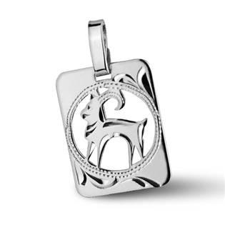 ZB51255-1 Stříbrný přívěšek znamení KOZOROH