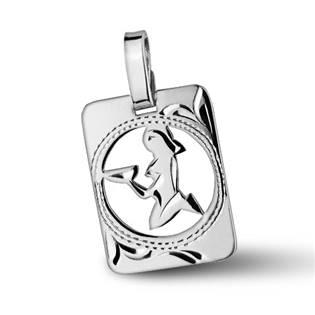 ZB51255-9 Stříbrný přívěšek znamení PANNA