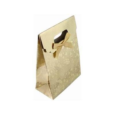 Darčeková taška s mašľou zlatá