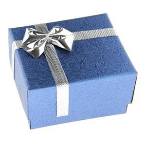 Darčeková karbička na prsteň modrá