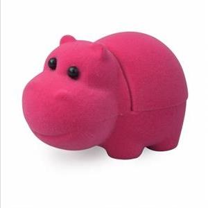 Semišová darčeková krabička - hroch ružový