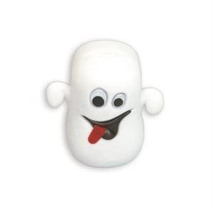 Semišová darčeková krabička - strašidielko biele