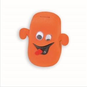Semišová darčeková krabička - strašidielko oranžové
