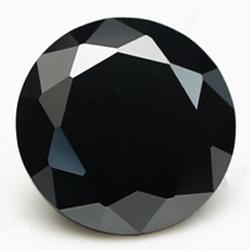 CZ kubický zirkon - black, pr. 2.00 mm