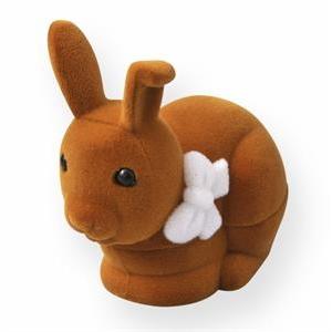 Semišová darčeková krabička - zajačik hnedý