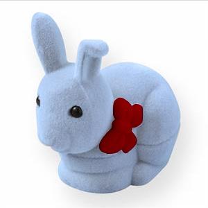 Semišová darčeková krabička - zajačik tyrkysový
