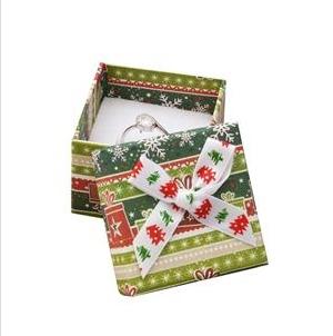 Vianočná darčeková krabička na prsteň