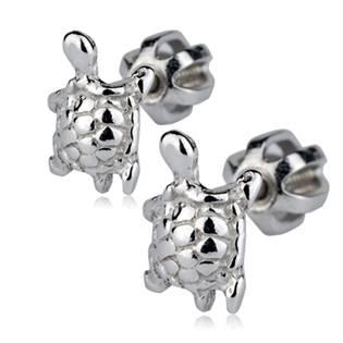 Dětské stříbrné náušnice šroubovací - želvičky