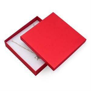 KR0093-RD Dárková krabička na soupravu šperků velká - červená