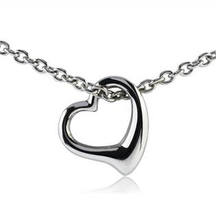 Šperky4U Ocelový řetízek s přívěškem ve tvaru srdíčka - OPE1002