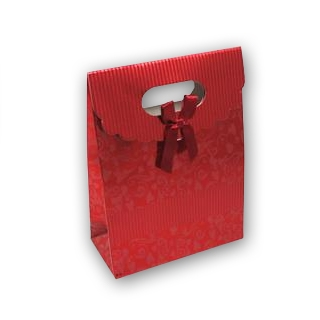 Darčeková taška s mašľou červená