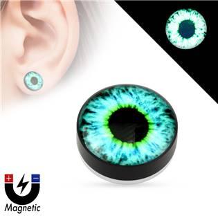 Piercing - magnetický plug do ucha, oko