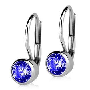 Stříbrné náušnice s modrými kameny 5 mm