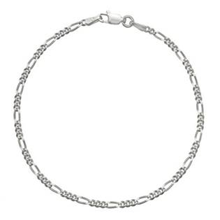 Stříbrný náramek figaro, délka 19 cm