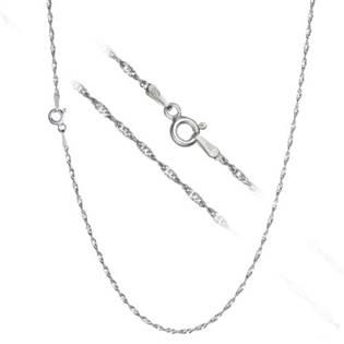 Stříbrný řetízek lambada - kroucený, délka 45 cm