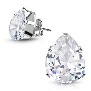 Šperky4U Ocelové náušnice - kapky - OPN1192