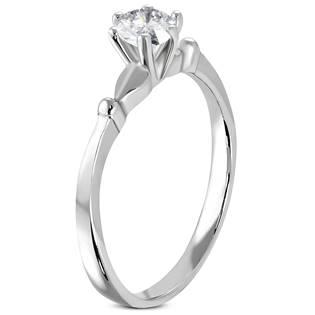 Ocelový prsten se zirkonem OPR1086
