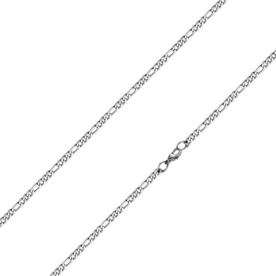 Oceľová retiazka figaro, hr. 3 mm, dĺžka 50 cm