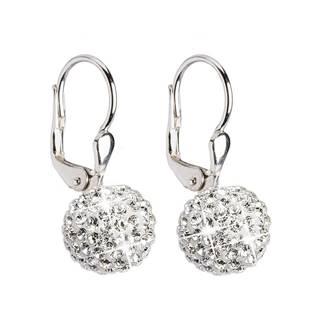 Stříbrné náušnice s krystaly Crystals from Swarovski®, Crystal