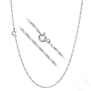 Stříbrný řetízek figaro, š. 1 mm, délka 45 cm