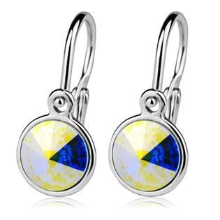 Dětské stříbrné náušnice, Crystals from SWAROVSKI®, barva: Crystal AB